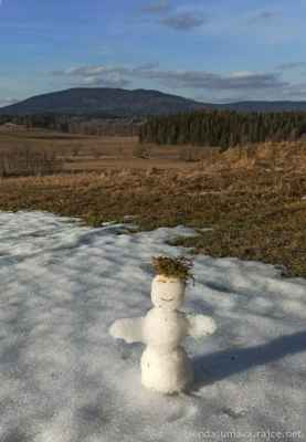 28.3.2021 - Na posledním fleku sněhu v pozadí s Boubínem