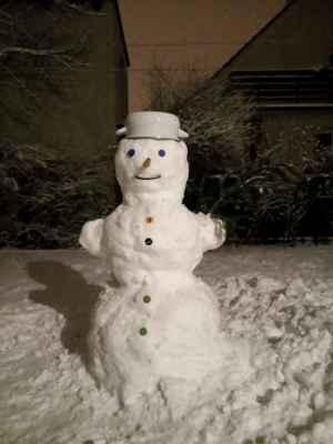 Mnichovo Hradiště sněhulák 12. 1. 2021 - poslal Karel MH