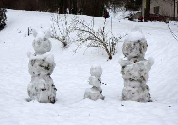 2.2.2021 - tři stateční v Bělovsi u Náchoda od Libora Zoufala