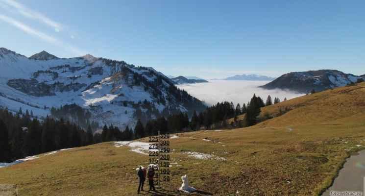 30.11.2020 - u sněhotyče v Alpách