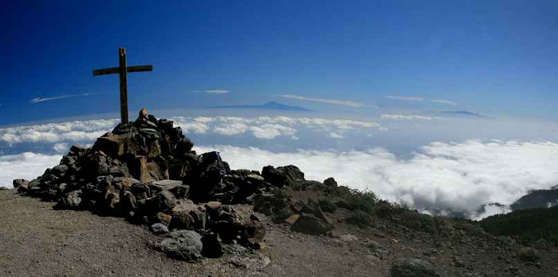 ...na Pico de La Nieve (2239 m.n.m.), sníh tu ale nebyl, + 20 °C....