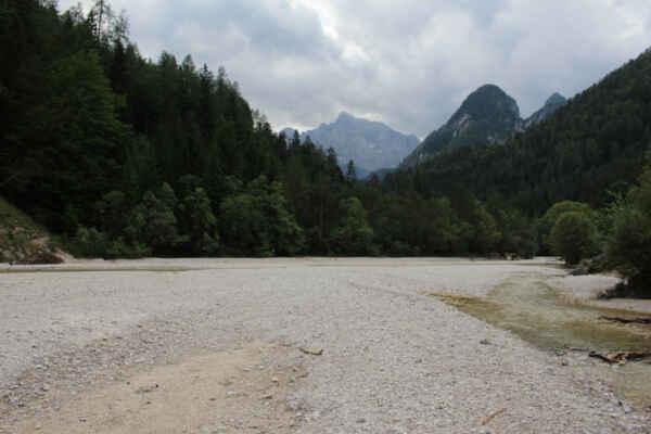 Řeka Pišnica směr Vršič
